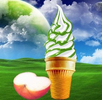 苹果冰淇淋