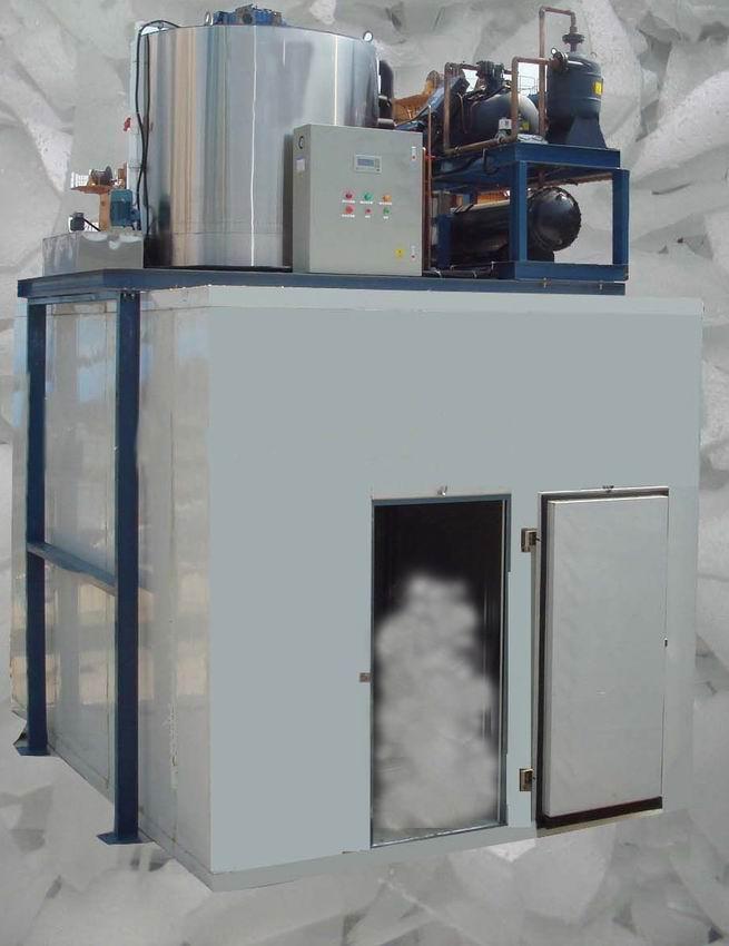 超市酒店商用小型0.5T制冰机片冰机