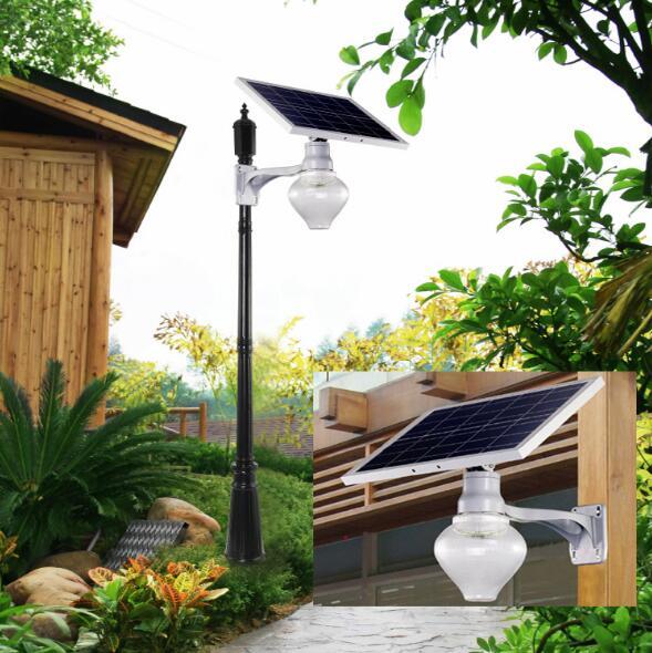 太阳能一体化桃子灯路灯庭院灯户外
