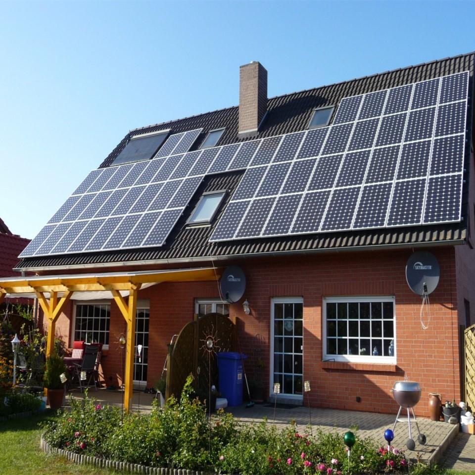 居民楼太阳能光伏发电5000w家用小型太阳能发电并网光伏发电系统